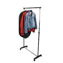 Mind Reader Garment Rack with Wheels in Silver/Black