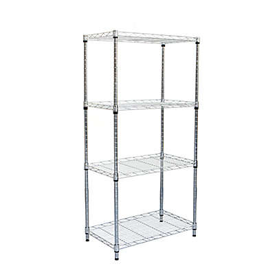 Mind Reader 4-Tier Shelving Unit in Chrome