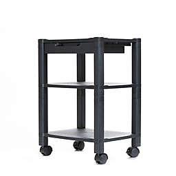 Mind Reader 3-Shelf Mobile Printer Cart in Black