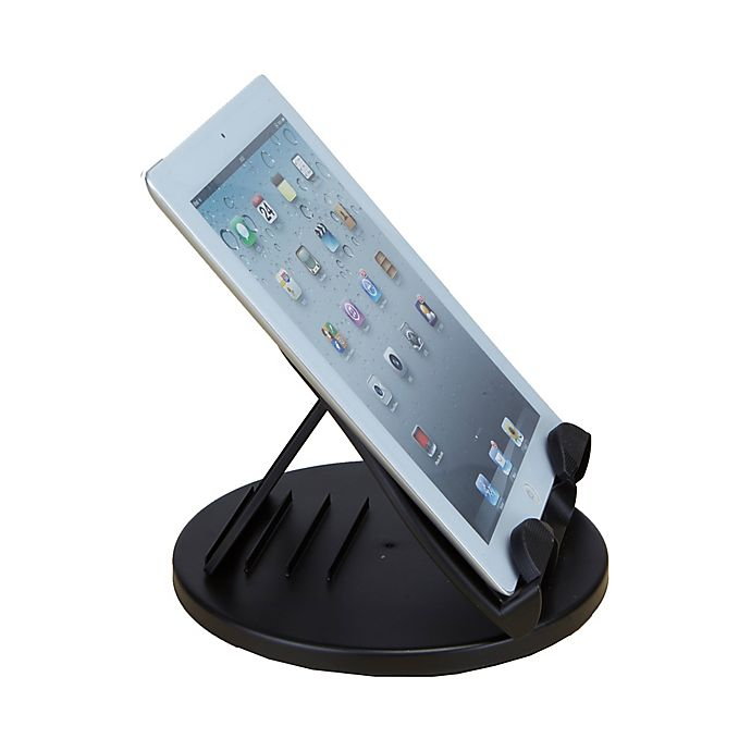 Alternate image 1 for Mind Reader Spinning Tablet Holder in Black