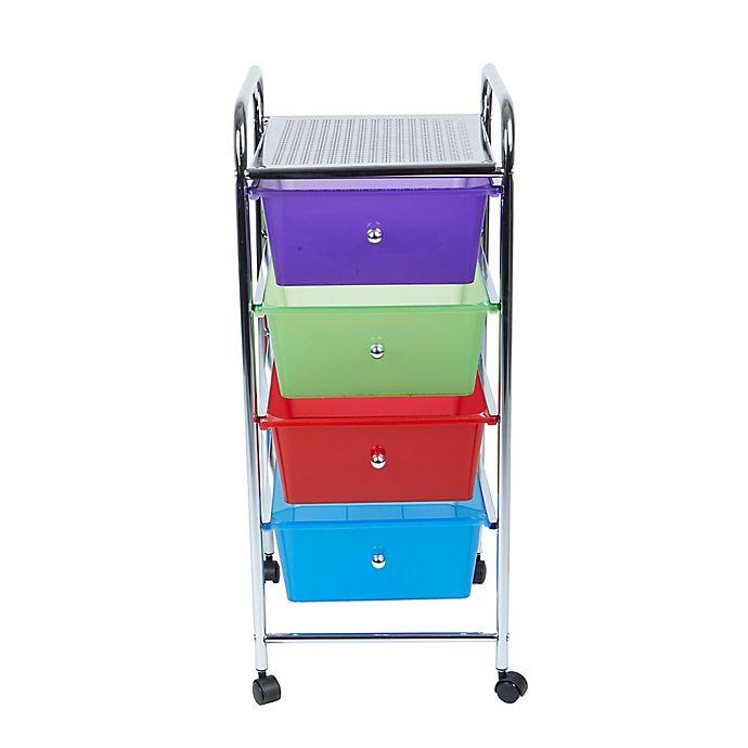 Alternate image 1 for Mind Reader 4-Drawer Storage Cart in Multi