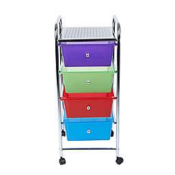 Mind Reader 4-Drawer Storage Cart in Multi