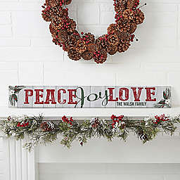 Peace, Joy, Love Wooden Sign