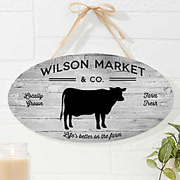 Farmhouse Kitchen Oval Wood Sign