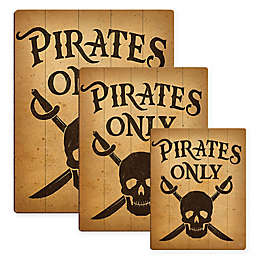 Astra Art Pirates Only Wood Wall Art