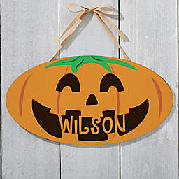 Happy Jack O' Lantern Oval Wood Sign