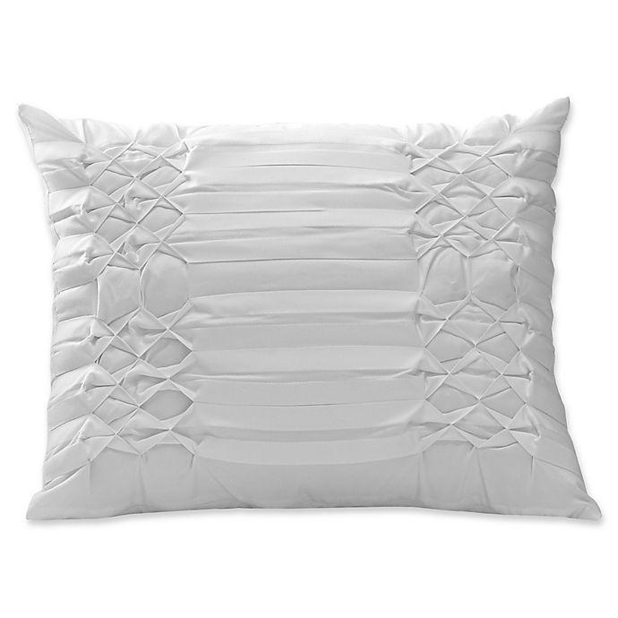 Alternate image 1 for City Scene Triple Diamond Throw Pillow in White
