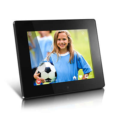 Aluratek 8-Inch 8GB Internal Memory WiFi Digital Photo Frame in Black