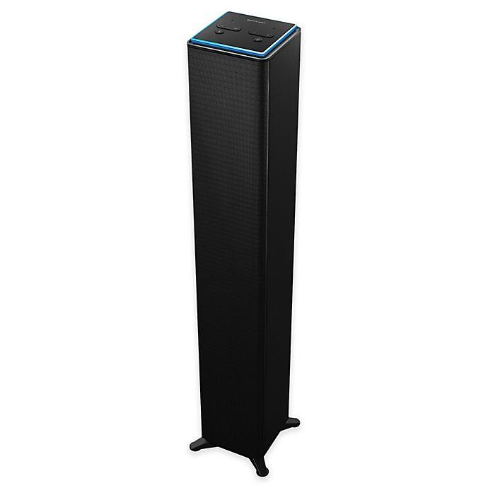 The Sharper Image Indoor Wifi Tower Speaker With Amazon Alexa Voice