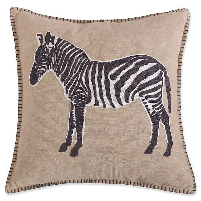 Alternate image 1 for Levtex Home Marais Zebra Square Throw Pillow in Natural