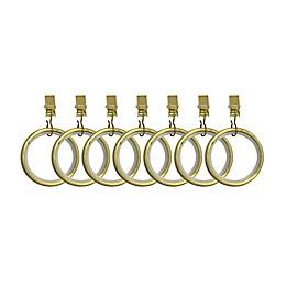 Umbra® Cappa Clip Rings in New Brass