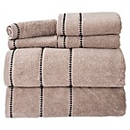 Nottingham Home 6-Piece Quick Dry Zero Twist Towel Set in Taupe/Black