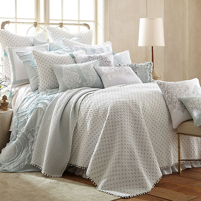 Alternate image 1 for Levtex Home Anna King Quilt Set in Spa