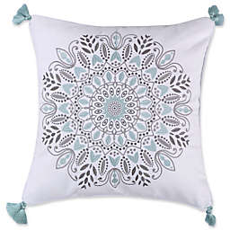 Levtex Home Anna Medallion Square Throw Pillow in Grey