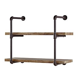 Danya B.™ 2-Tier Industrial Pipe Wall Shelf