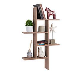 Danya B™ Cantilever Wall Shelf in Weathered Oak
