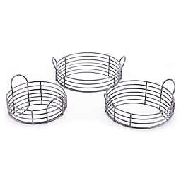 Zuo® 3-Piece Decorative Round Trays in Black