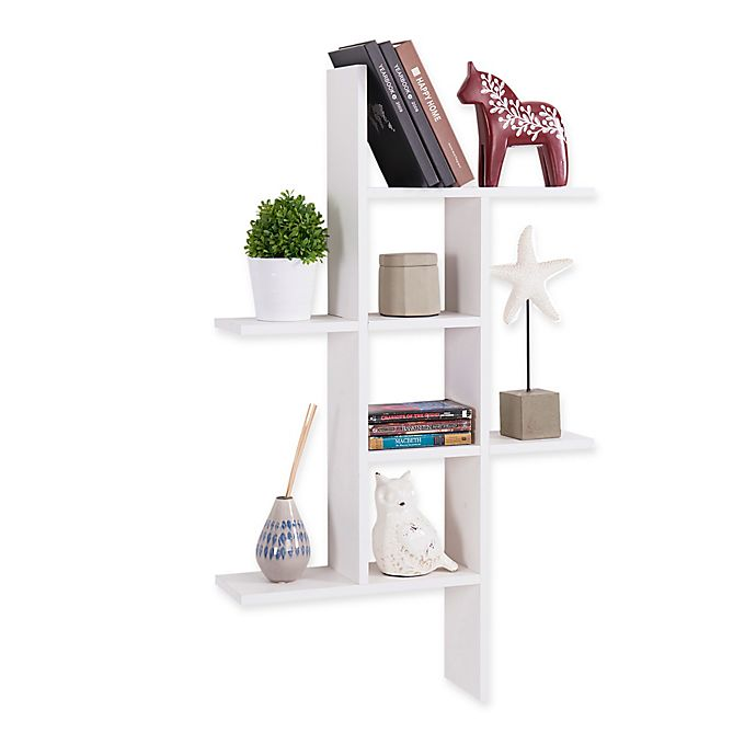 Alternate image 1 for Danya B™ MDF Cantilever Wall Shelf in White