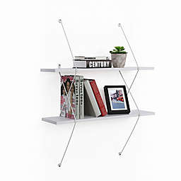 Danya B.™ Two-Level White Shelving System