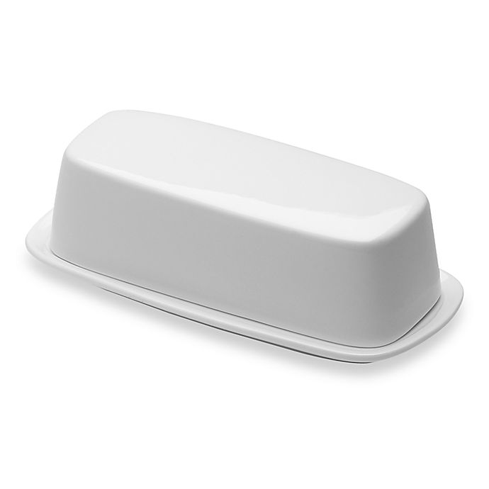Alternate image 1 for Nevaeh White® by Fitz and Floyd® Covered Butter Dish