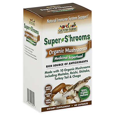 Country Farms® 60-Count Super S'hrooms Organic Mushroom Capsules