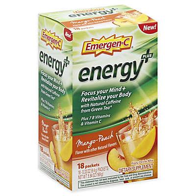 Emergen-C® 18-Count .33 oz. Energy+Peach Mango Fizzy Drink Mix Packets