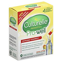 Culturelle® 20 Pro-Well® Immune + Energy Packets in Fresh Citrus