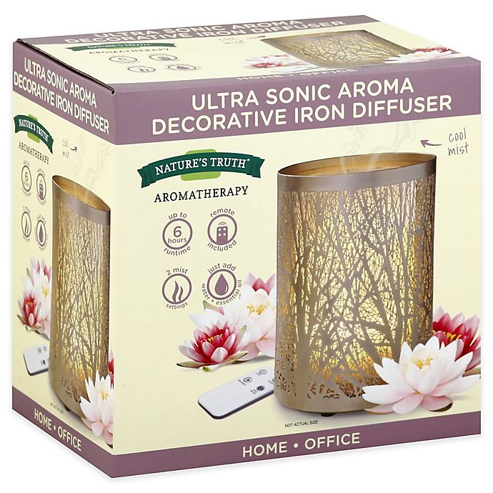 Alternate image 1 for Natures Truth® Ultra Sonic Aroma Decorative Iron Diffuser