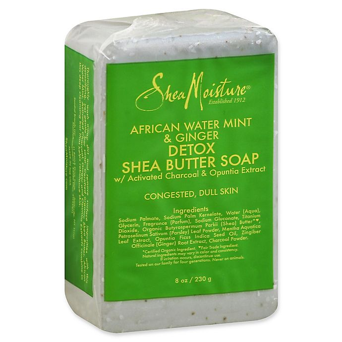 Alternate image 1 for SheaMoisture® 8 oz. African Water Mint and Ginger Detox Shea Butter Bar Soap