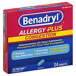 Benadryl® 24-Count Allergy Plus Congestion Tablets