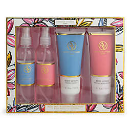 Adrienne Vittadini 4-Piece Body Lotion and Mist Gift Set in Pink