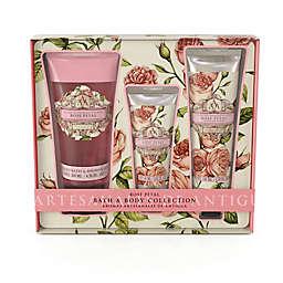 Aromas Artesanales De Antigua 3 Piece Rose Petal Bath Body Collection