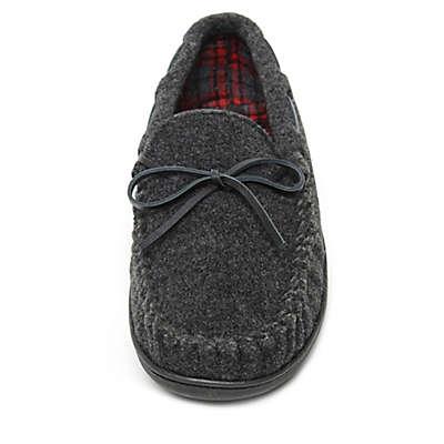 Minnetonka® Aaron Men's Trapper Slippers in Charcoal