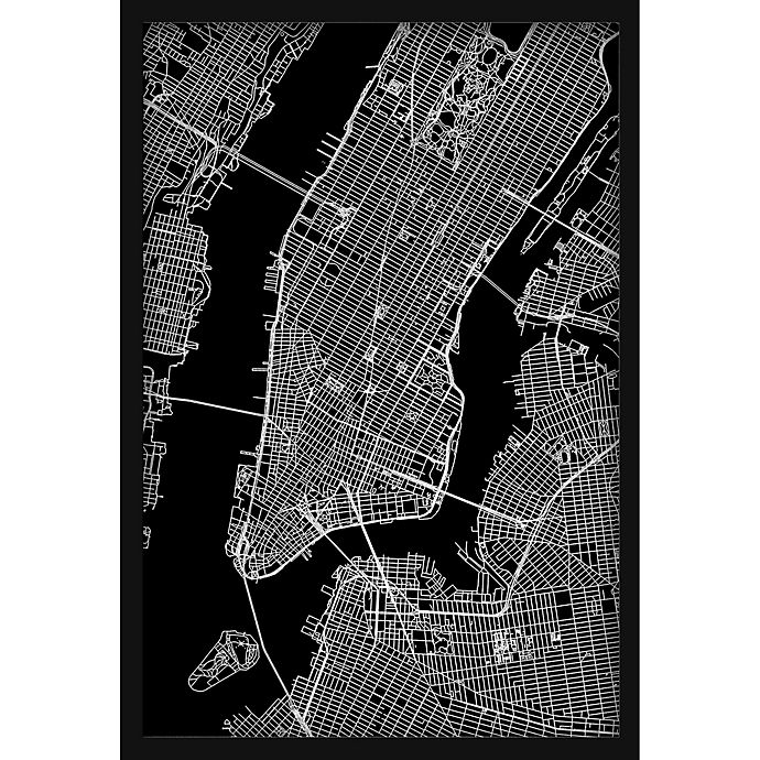Alternate image 1 for Marmont Hill NY Grid 30-Inch x 45-Inch Shadow Box Wall Art
