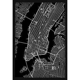 Marmont Hill NY Grid 12-Inch x 18-Inch Shadow Box Wall Art