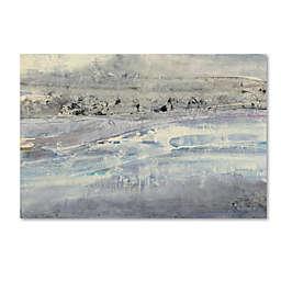 Marmont Hill Silver Horizon 19-Inch x 12-Inch Canvas Wall Art