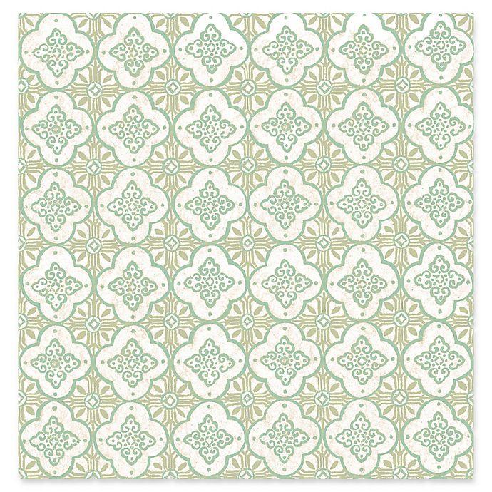 Alternate image 1 for Geo Quatrefoil Wallpaper in Green