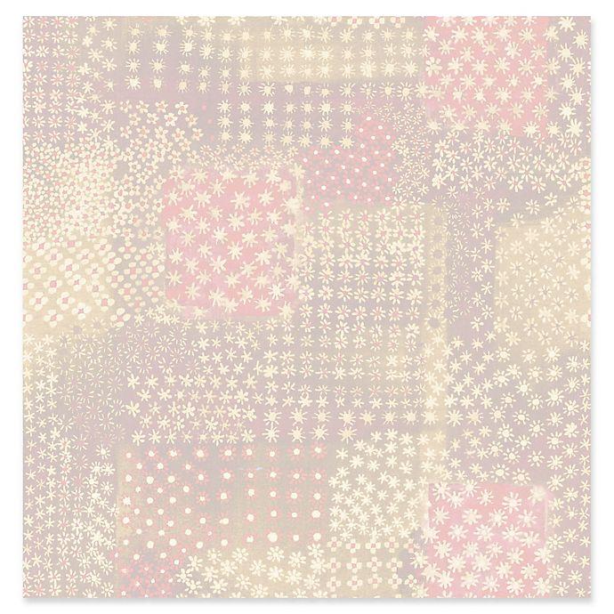 Alternate image 1 for Flower Power Patchwork Wallpaper in Pink