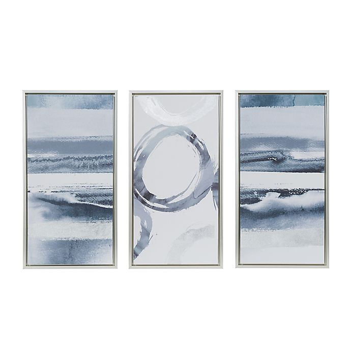 Madison Park Grey Surrounding Canvas Wall Art Set Of 3 Bed Bath Beyond
