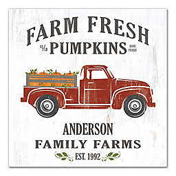 Designs Direct Farm Fresh Pumpkins 16-Inch Square Pallet Wood Wall Art