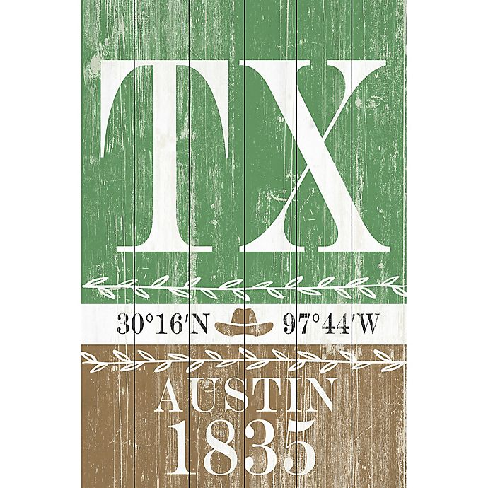 Alternate image 1 for Marmont Hill Austin 1835 16-Inch x 24-Inch Wooden Wall Art
