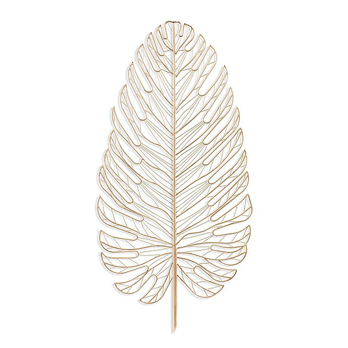 Alternate image 1 for Southern Enterprises Rahara Metal Feather 20.25-Inch x 42-Inch Wall Art in Gold