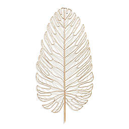 Southern Enterprises Rahara Metal Feather 20.25-Inch x 42-Inch Wall Art in Gold