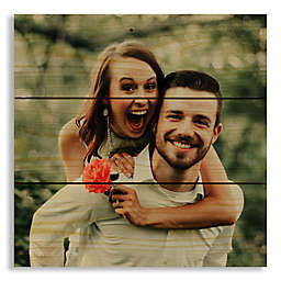 Designs Direct Photo Upload 10.5-Inch Square Pallet Wood Wall Art