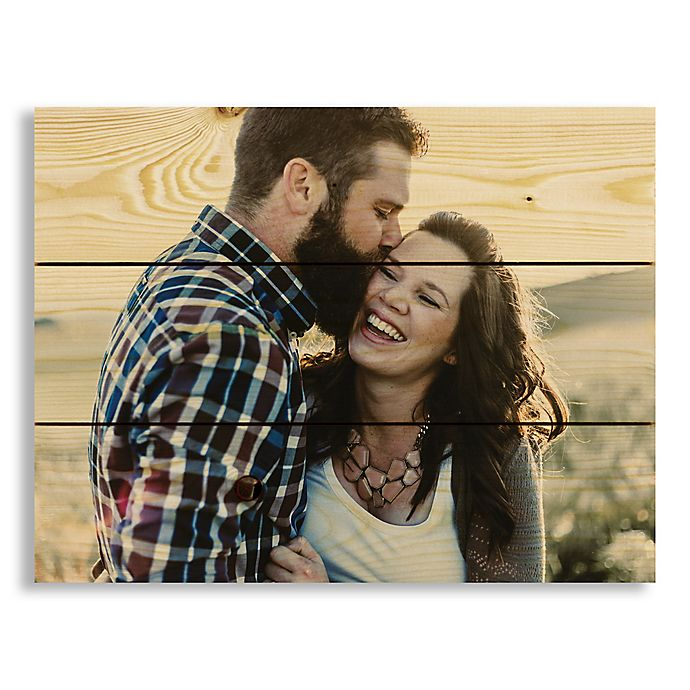 Alternate image 1 for Designs Direct Photo Upload 14-Inch x 10.5-Inch Pallet Wood Wall Art