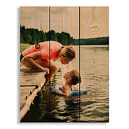 Designs Direct Photo Upload 10.5-Inch x 14-Inch Pallet Wood Wall Art