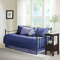 Madison Park Quebec 6-Piece Reversible Daybed Set in Navy