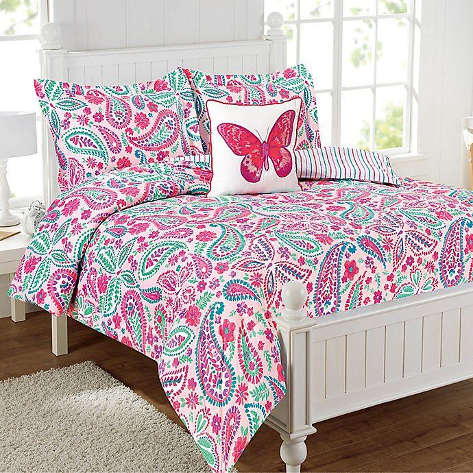 Alternate image 1 for Watercolor Flutter 4-Piece Full Comforter Set