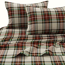 Tribeca Living 170 GSM Charleston Plaid Flannel Sheet Set