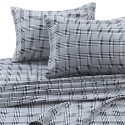Micro Flannel Carlton Plaid Sheet Set Bed Bath Beyond